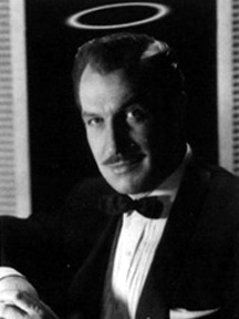 Vincent Price with a Halo as The Saint