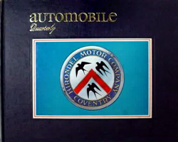 Automobile Quarterly - Q1 1972 - Simon Templar's Hirondel