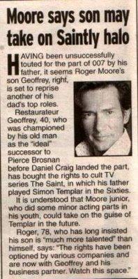 Geoffrey Moore the next Simon Templar?