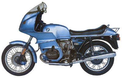 1977 BMW Motorcycle Poster