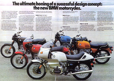 1977 BMW Motorcycle Advertising