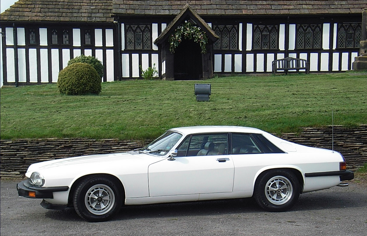 Photos of the primary Jaguar XJS used In The Return of The Saint