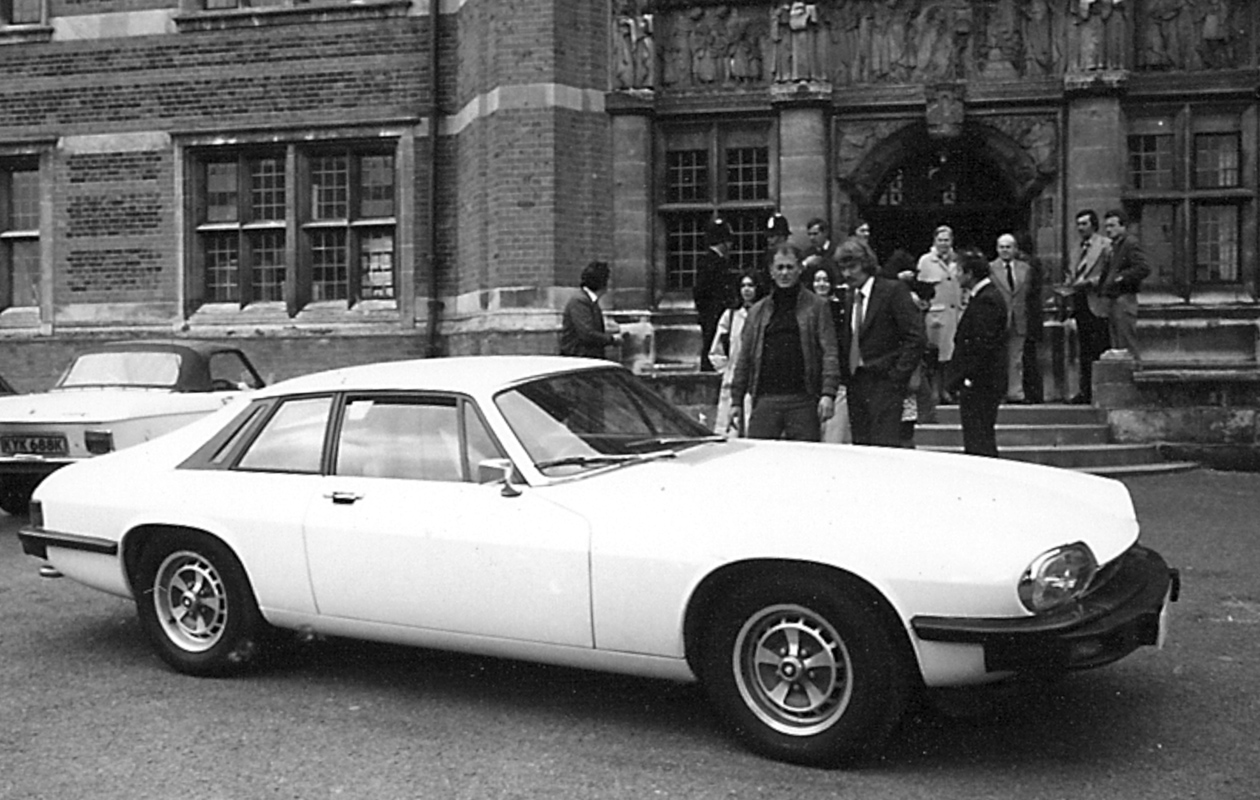 the saints white jaguar xjs on the film set