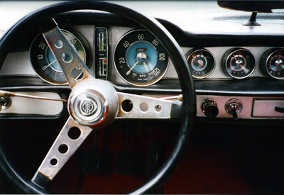 Dashboard of a 1964 Volvo 1800S